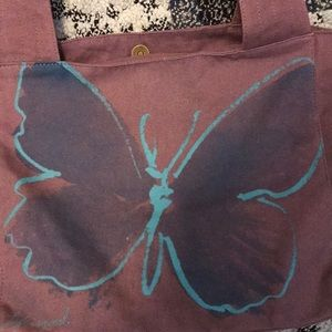 Life Is Good Bags - Life is Good Carryall Tote butterfly